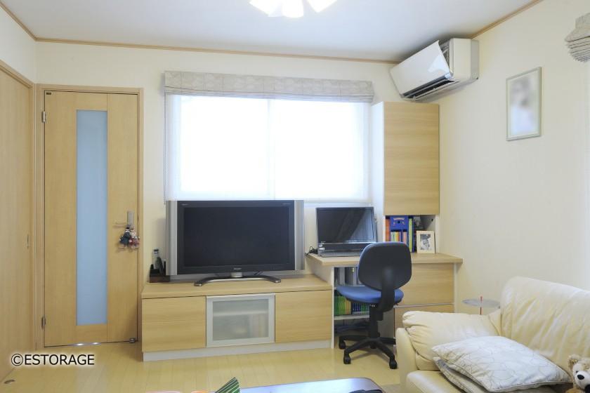 限られたスペースを最大限に活用したテレビボード