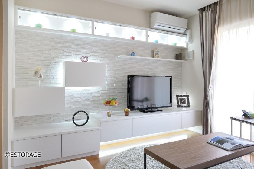 オーダー家具ならではの洗練されたリビングボード