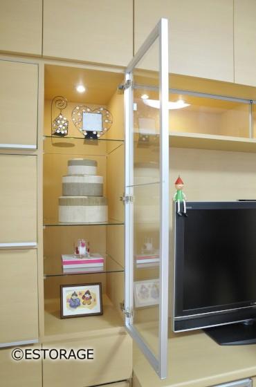 ホームシアター-リビング壁面収納-4