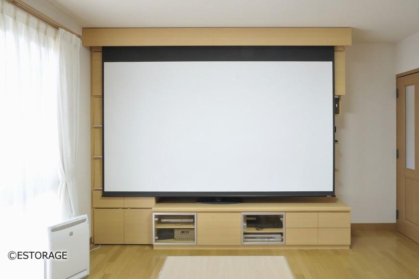 ホームシアター-リビング壁面収納-7