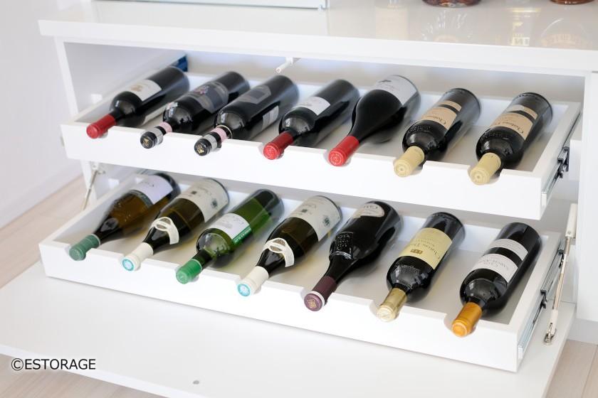 ワインが仕舞える飾り棚