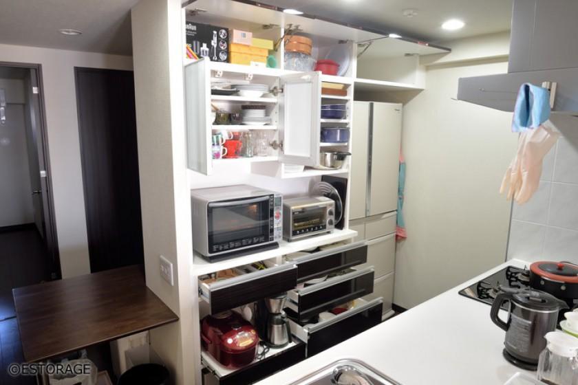 キッチン壁面収納オーダー家具-3