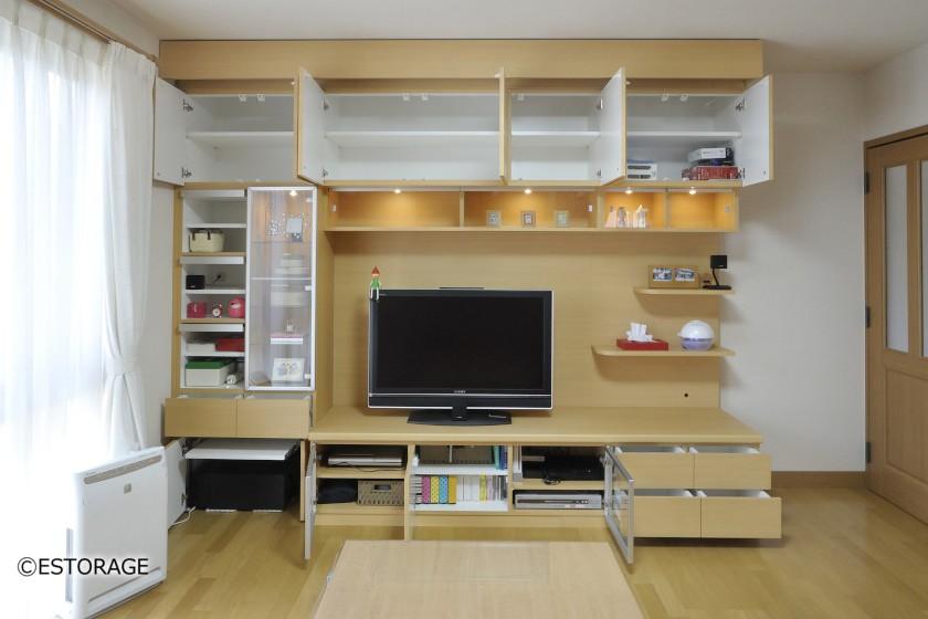 ホームシアター-リビング壁面収納-1