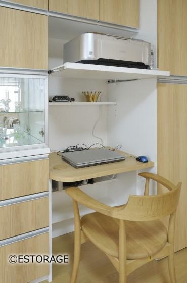 既存家具にピッタリ合わせたリビング収納