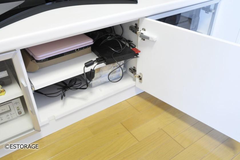 書棚とエアコンを組み込んだ壁面収納4