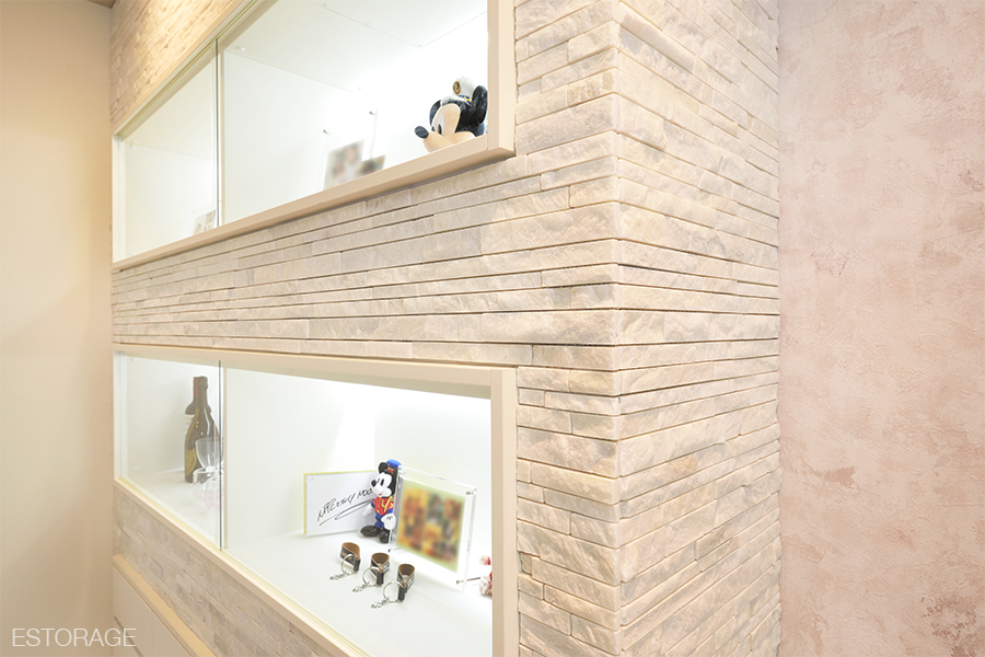 リビング収納、壁面収納、飾り棚