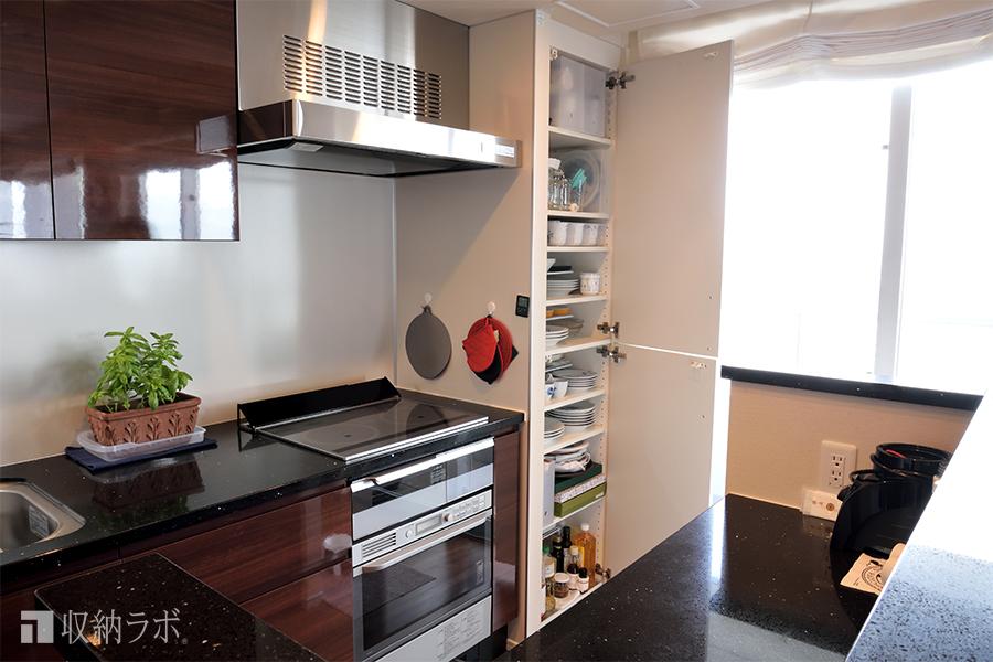 キッチンカウンター収納、収納ラボ