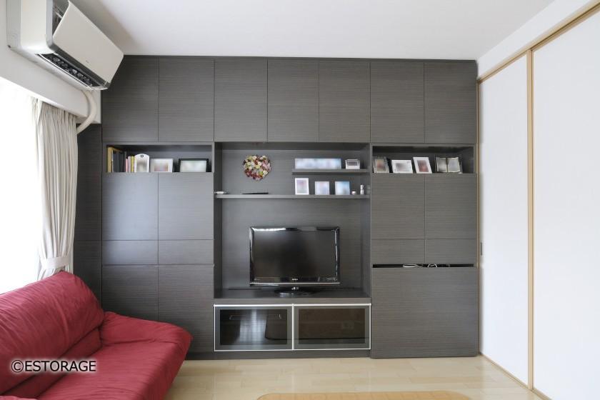 部屋をすっきり見せる壁面収納