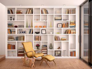 読書家におすすめしたい書棚。雑貨と並べておしゃれインテリア完成
