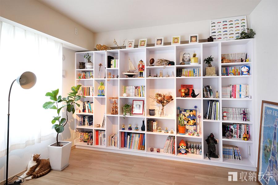 壁面収納のメリット1:大容量の収納
