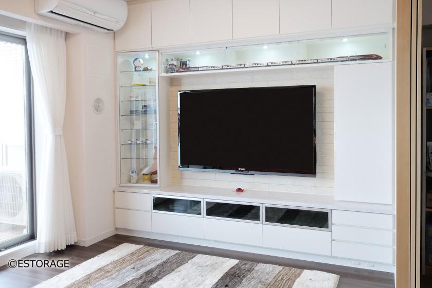 飾棚スペースも充実したTVボード2