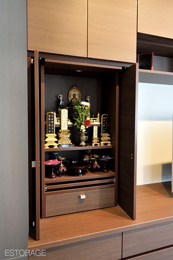 組み込み式のオーダー家具でスペースを活用