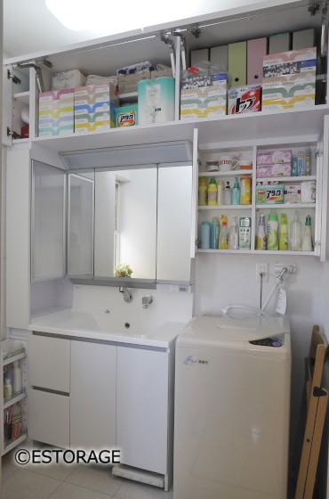 (1)スペースを無駄なく使う洗面所の壁面収納