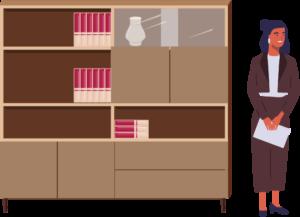 (1)書棚のサイズは社員に合わせる!