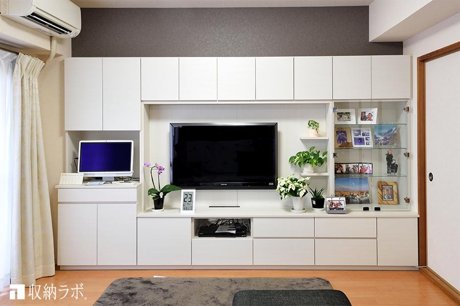 テレビを置けるリビングの壁面収納
