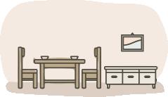 家具選びのコツ5:コーディネートは床や壁と合わせる