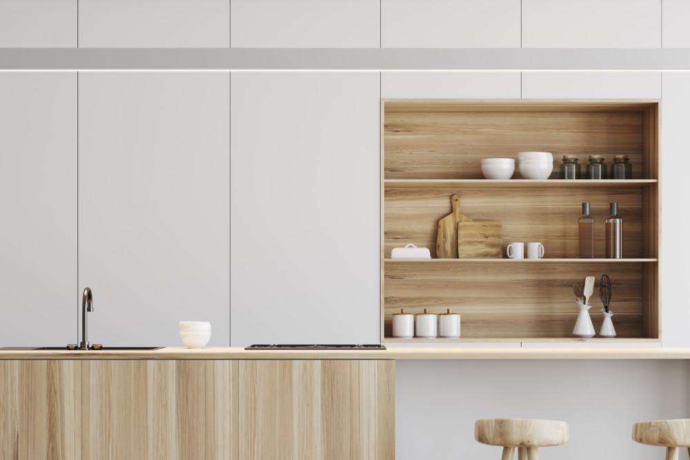 (2)食器棚の素材にも注目
