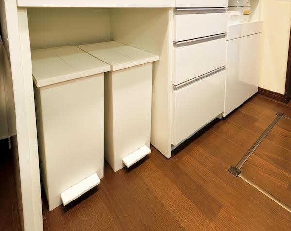 (4)ゴミ箱を置くスペースを作る