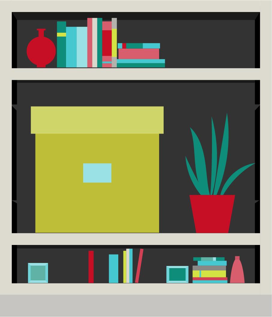 5.本棚は棚板の付け替えができると◎
