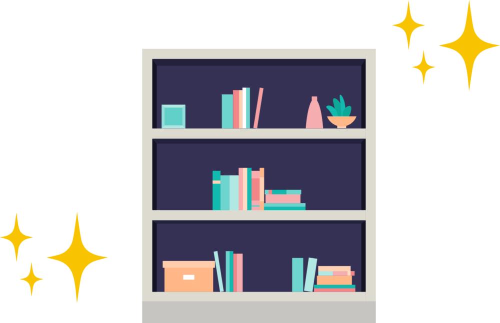 1.本棚にはゆとりを持たせる