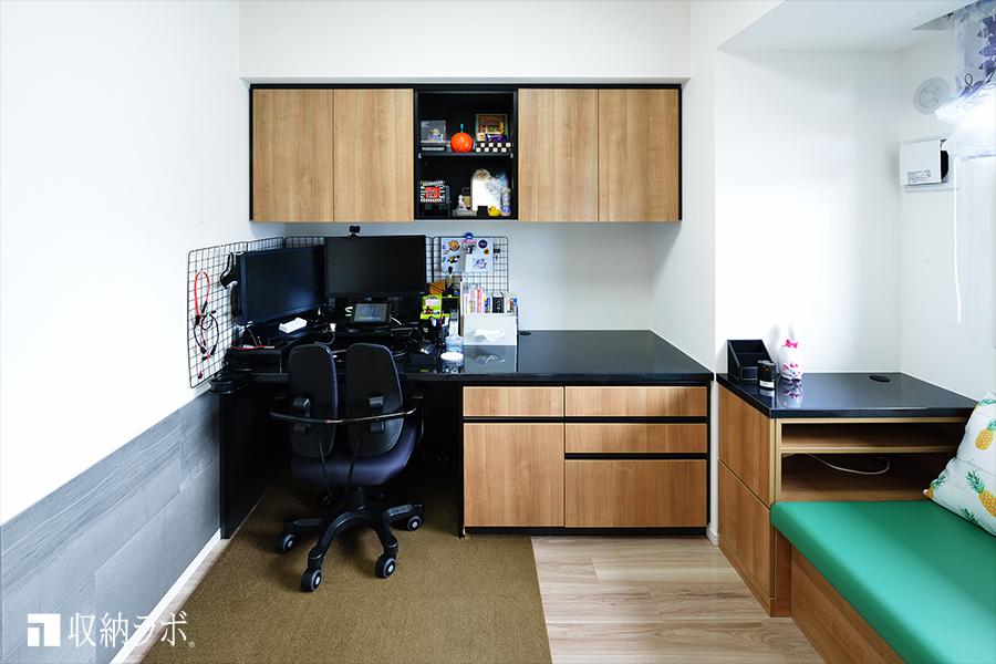 (3)限られたスペースを有効活用する壁面収納デスク