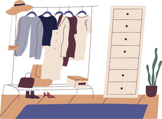 4.収納家具は簡単に使えるように