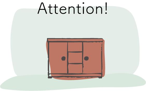 システム収納家具の注意点