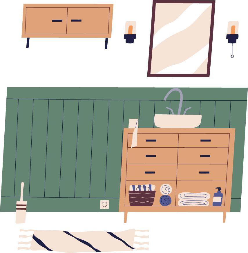 1.片付けるものに専用の収納場所を作る