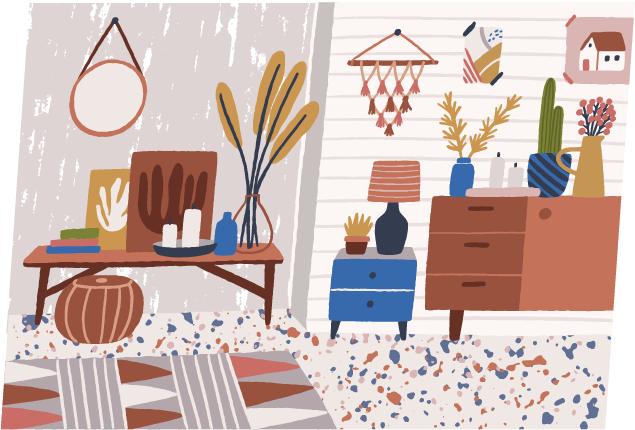 (4)立体的に収納できる家具を選ぶ