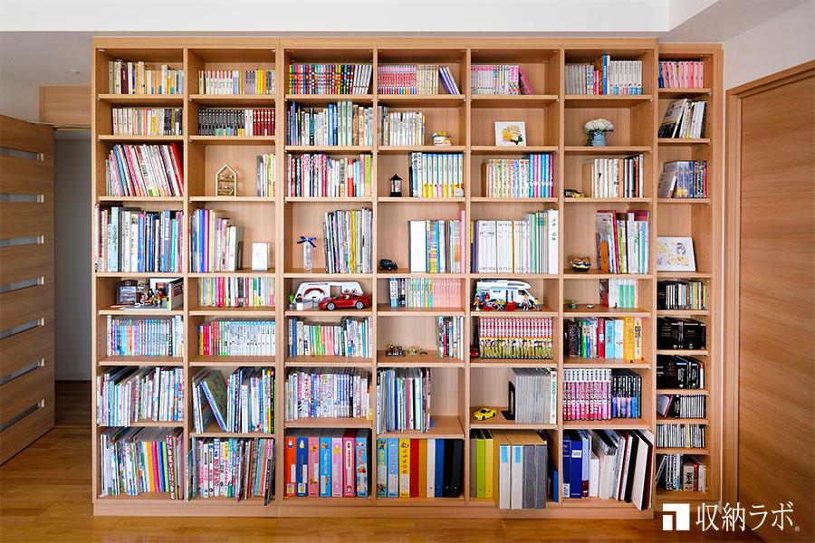 耐久性を考えた大容量のオーダーメイド本棚