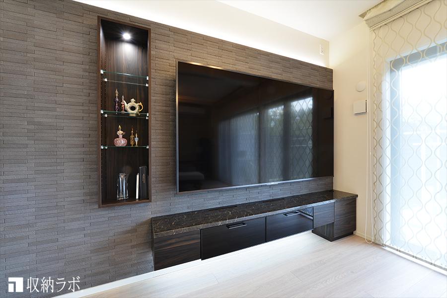 大型テレビを活かしたおしゃれなオーダー家具