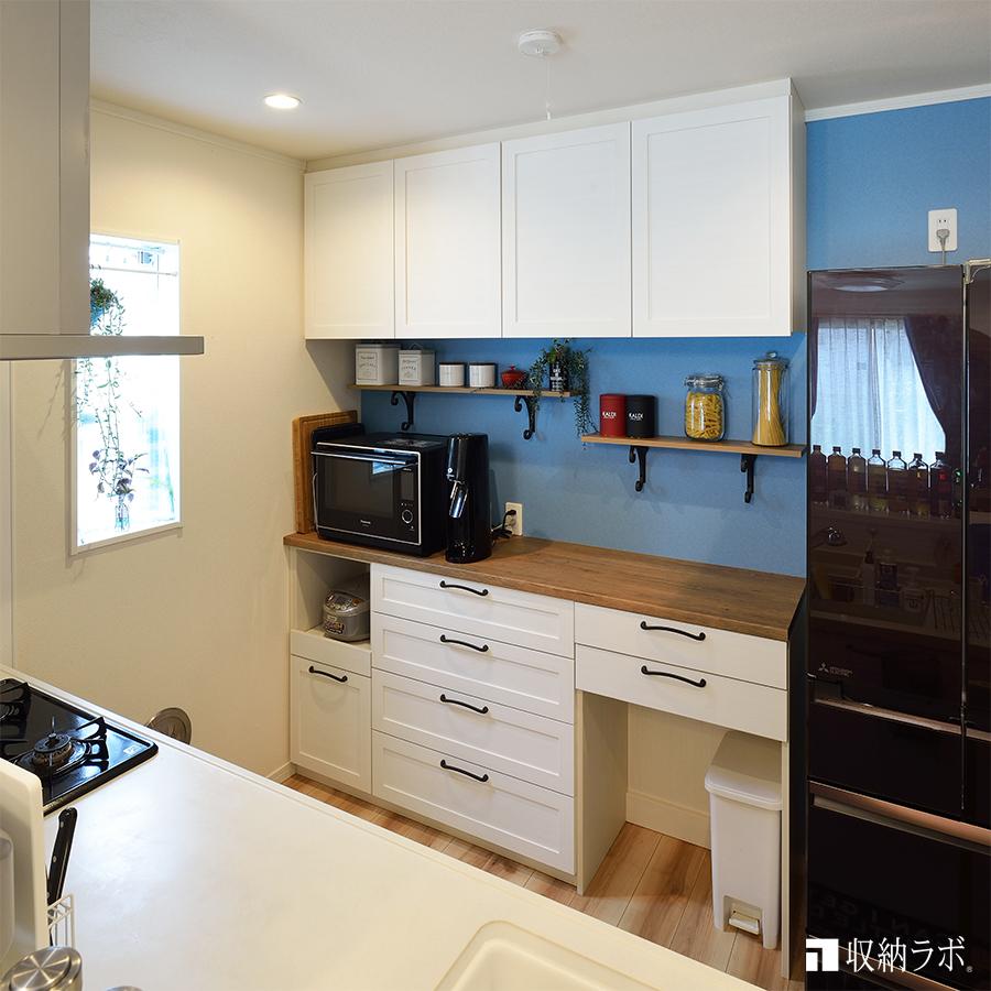 キッチンのオーダー家具事例