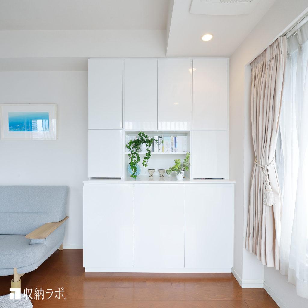趣味のものをまとめて収納できるオーダー家具の事例