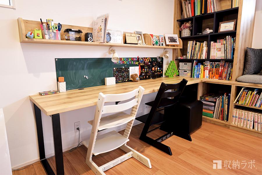 本棚と勉強スペースは近くに