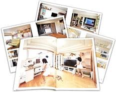 オーダー家具事例ブックと収納ラボブランドブックのイメージ