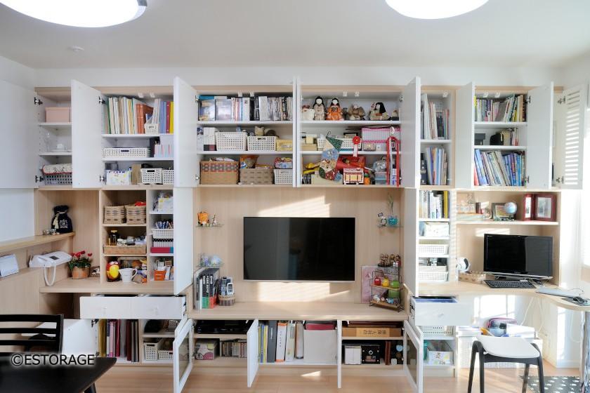 大容量の収納スペースを実現した壁面収納