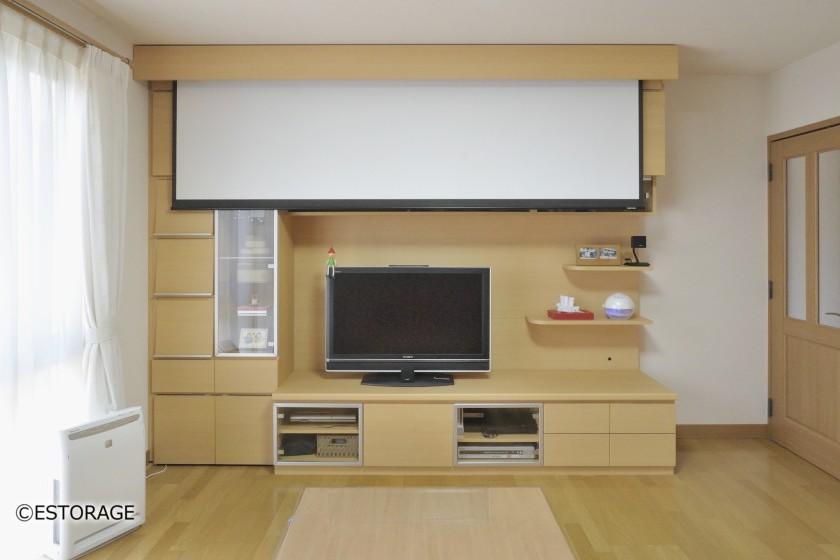 ホームシアター-リビング壁面収納-6