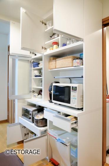 動線を確保したキッチン収納