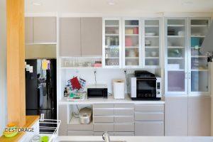 様々な収納方法を使ったキッチン収納