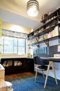 インテリアとしても魅力的な書斎に作ったデクス収納
