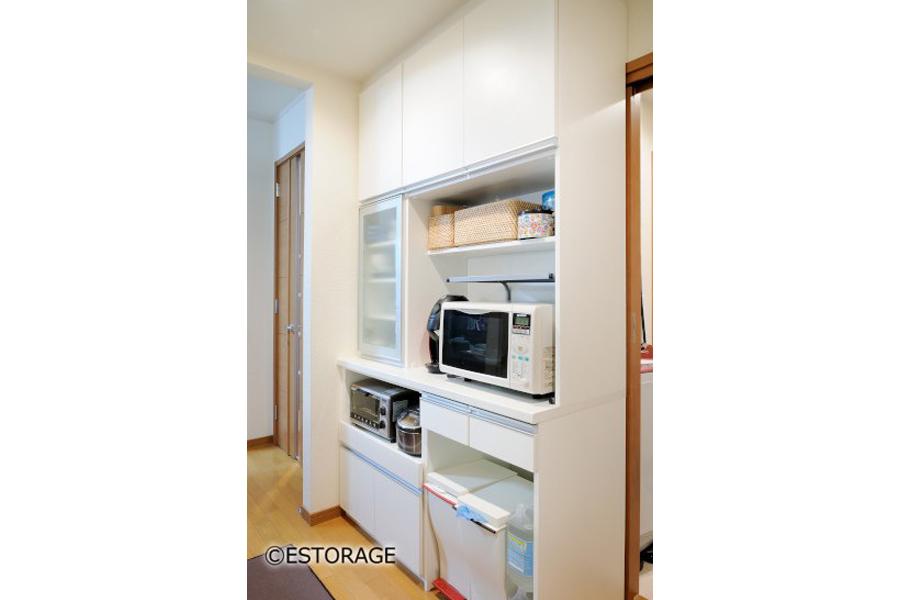 キッチンの動線を改善したキッチン収納