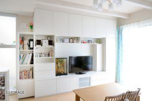 暮らしの変化にも対応できるオーダーメイドの壁面収納で理想の住まいを実現。
