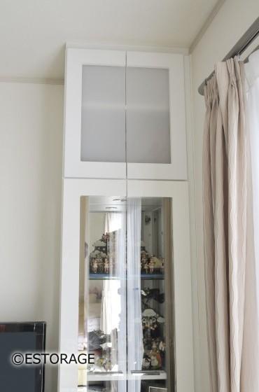 既存のキャビネットに合わせて設計された戸棚