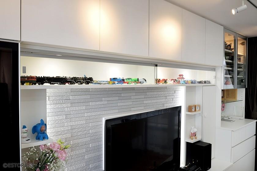 壁面収納の飾り棚スペース
