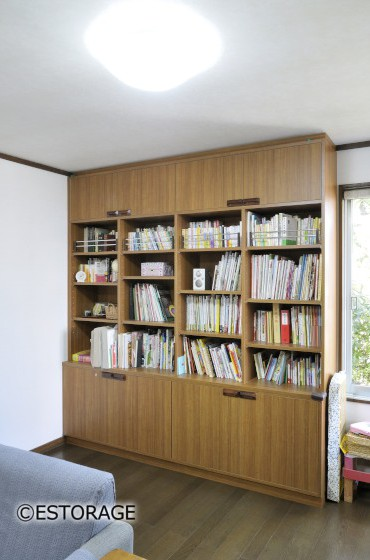 子供用の本棚として作った壁面収納