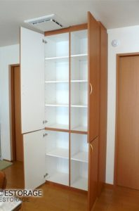 小スペースで大容量の壁面収納
