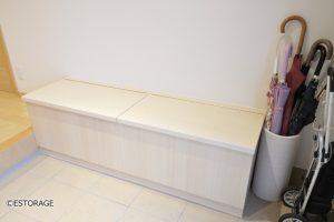収納機能付き玄関ベンチ