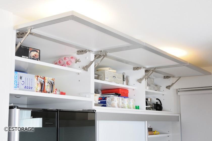 生活感を排除したキッチン収納