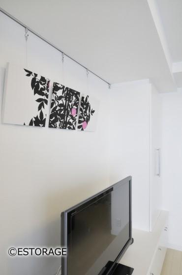 シンプルで大容量の壁面収納