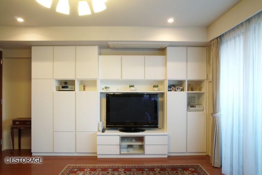 アイディア次第でエアコンを組み込んだ壁面収納